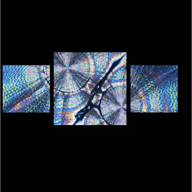 Модульная картина Кристаллы под микро