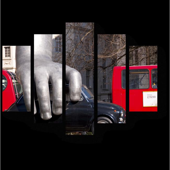 """Модульная картина Скульптура """"Врум Врум"""" в лондонском парке"""