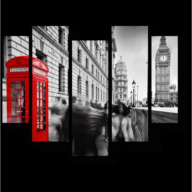 Модульная картина Занятой Лондон