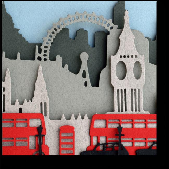 Модульная картина Силуэт Лондона