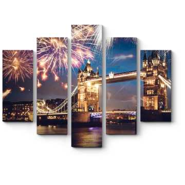 Модульная картина С Новым годом, Лондон