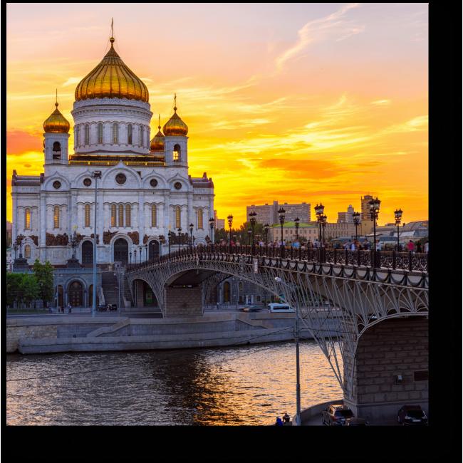 Модульная картина Великолепие храмов Москвы