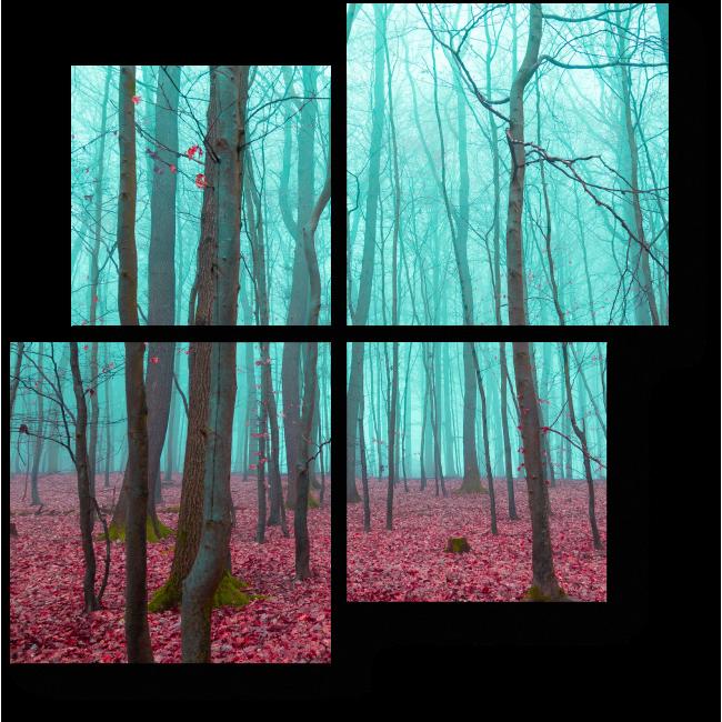 Модульная картина В сказочном лесу