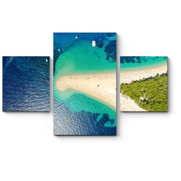 Модульная картина Над песчанным пляжем