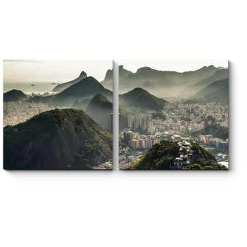 Вид с высоты на Рио-де-Жанейро