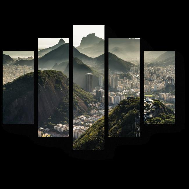 Модульная картина Вид с высоты на Рио-де-Жанейро