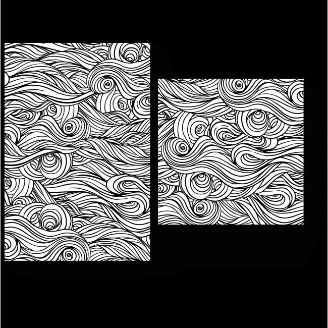 Модульная картина Переплетение волн