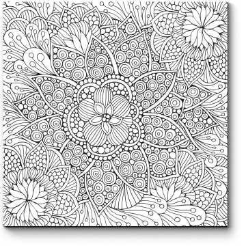 Модульная картина Цветочные узоры