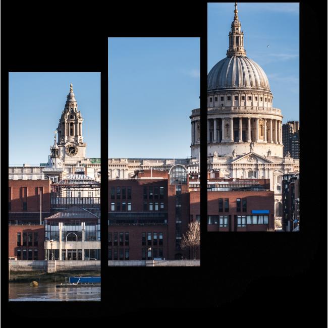 Модульная картина Лондон на рассвете