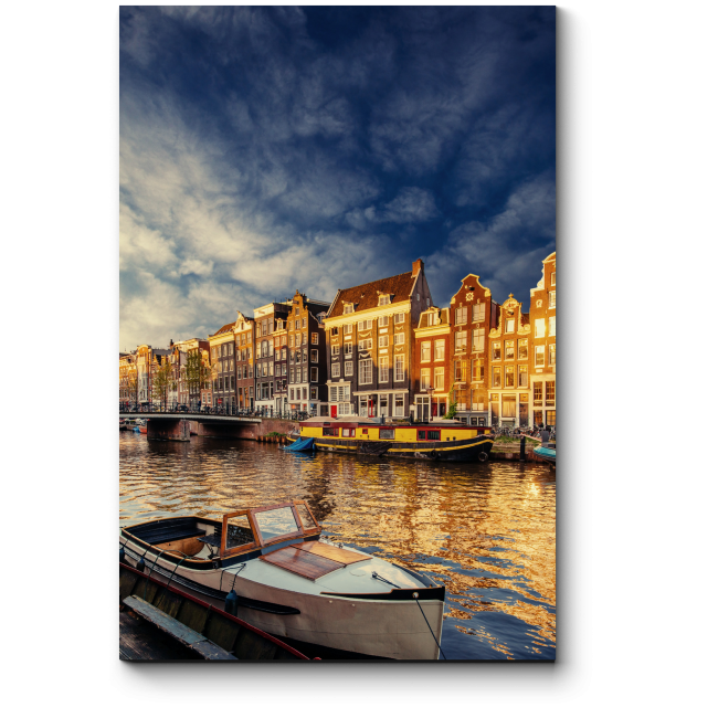 Модульная картина Потрясающая атмосфера Амстердама