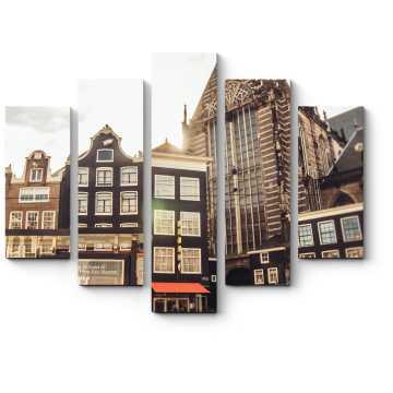 Модульная картина В центре Амстердама