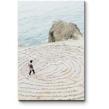 Модульная картина Лабиринт  на берегу