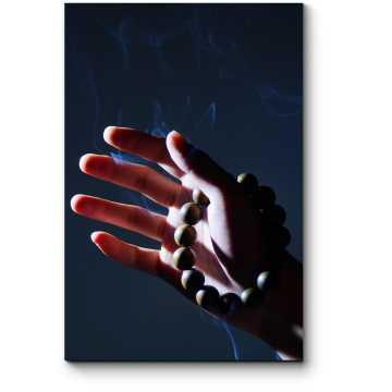 Модульная картина Рука с четками
