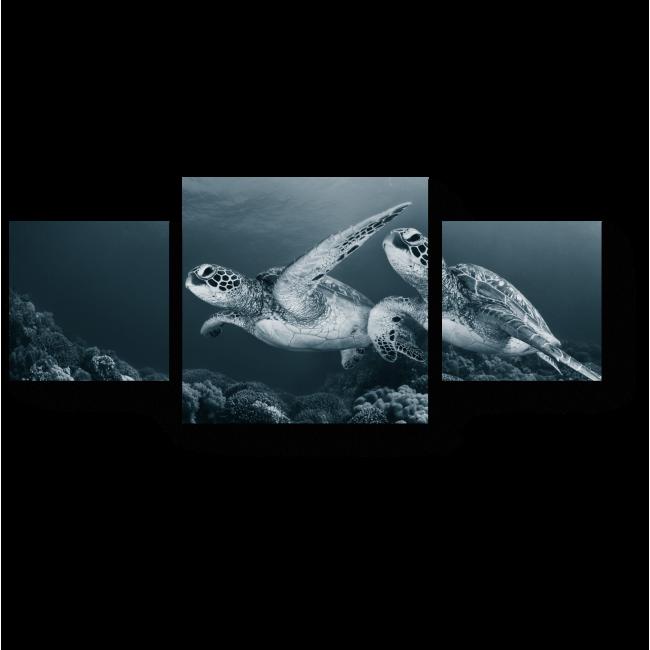 Модульная картина Черепашки-блезняшки