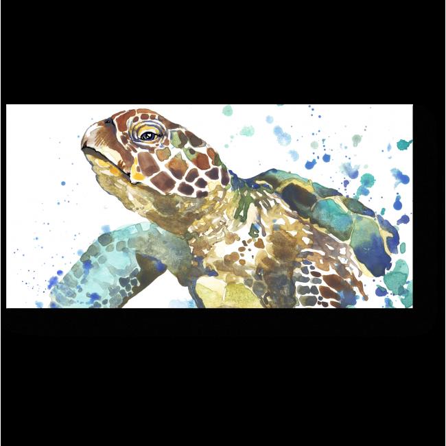 Модульная картина Акварельная черепашка