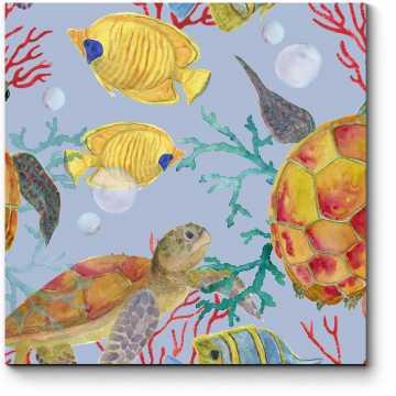 Модульная картина Подводное царство