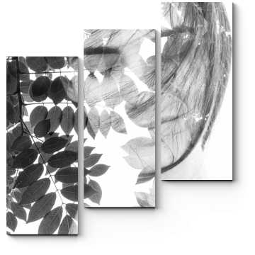 Модульная картина Тропический портрет девушки