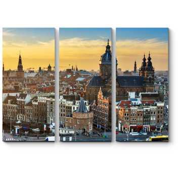 Амстердам с высоты птичьего полте