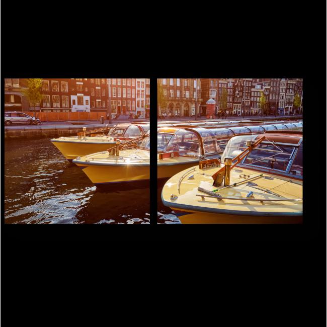 Модульная картина На берегу канала в Нидерландах