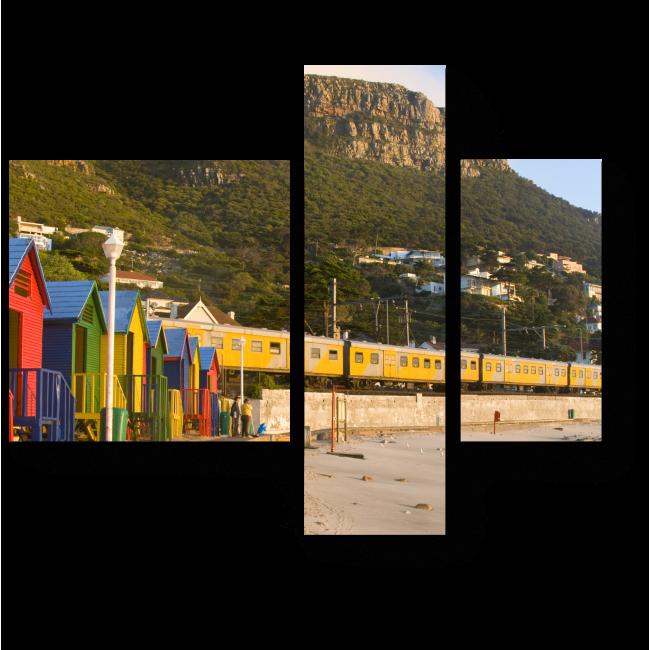Модульная картина Яркие краски Кейптауна