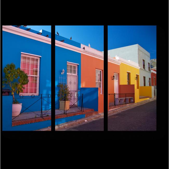 Модульная картина Яркий район Кейптауна