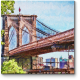 Бруклинский мост глазами влюбленного художника, Нью-Йорк