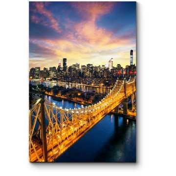 Модульная картина Огни моста Куинсборо, Нью-Йорк