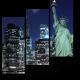 Статуя свободы в свете огней Манхэттена, Нью-йорк