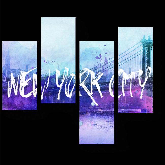 Модульная картина Яркие краски Нью-Йорка
