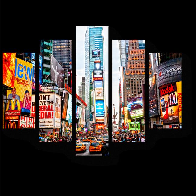 Модульная картина Таймс-Сквер, Нью-Йорк