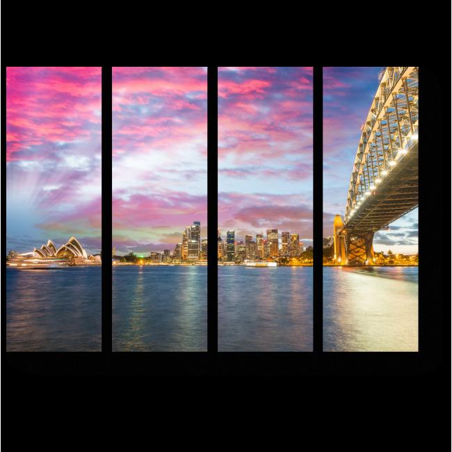 Модульная картина Завораживающие огни Сиднея