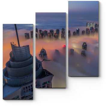 Модульная картина Выше дубайского тумана
