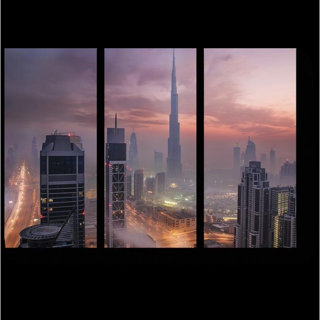 Модульная картина Утренний туман на Дубаем