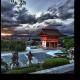 Грозовые облака над Киомицу-дэра, Киото