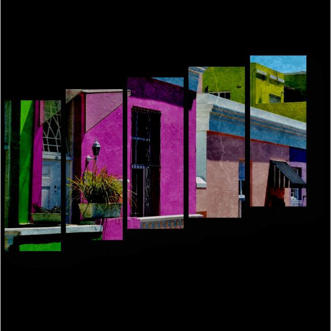 Модульная картина Яркие дома