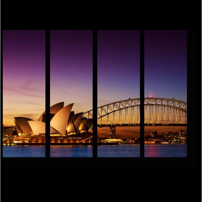 Модульная картина Сиднейский оперный театр в сумерках