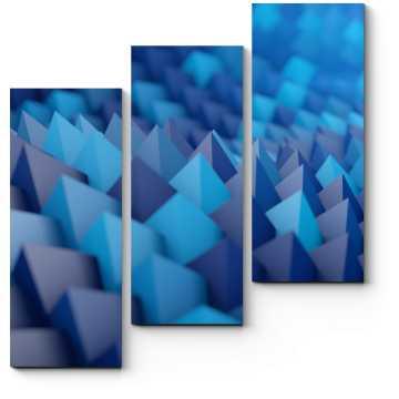 Модульная картина Пирамиды цвета