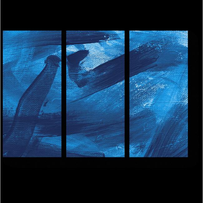 Модульная картина Абстрактные штрихи кистью