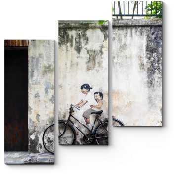 Уличная роспись в Малайзии