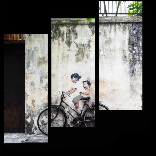 Модульная картина Уличная роспись в Малайзии