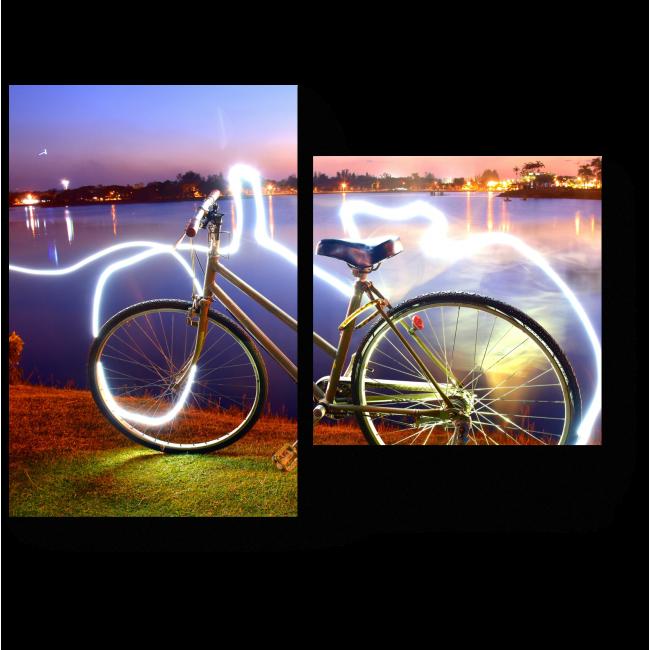 Модульная картина Энергетическая мощь велосипеда