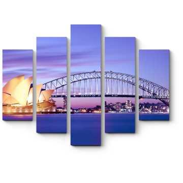 Модульная картина Сумерки спускаются на Сидней
