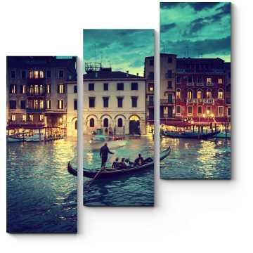 Модульная картина Гранд-канал в закат, Венеция