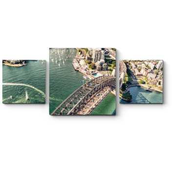Модульная картина Пролетая над солнечным Сиднеем