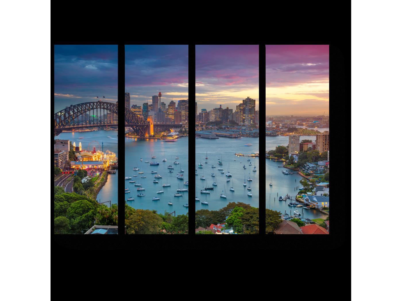 Модульная картина Сидней с высоты птичьего полета (60x45) фото