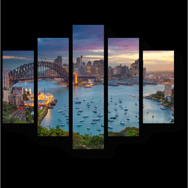 Модульная картина Сидней с высоты птичьего полета