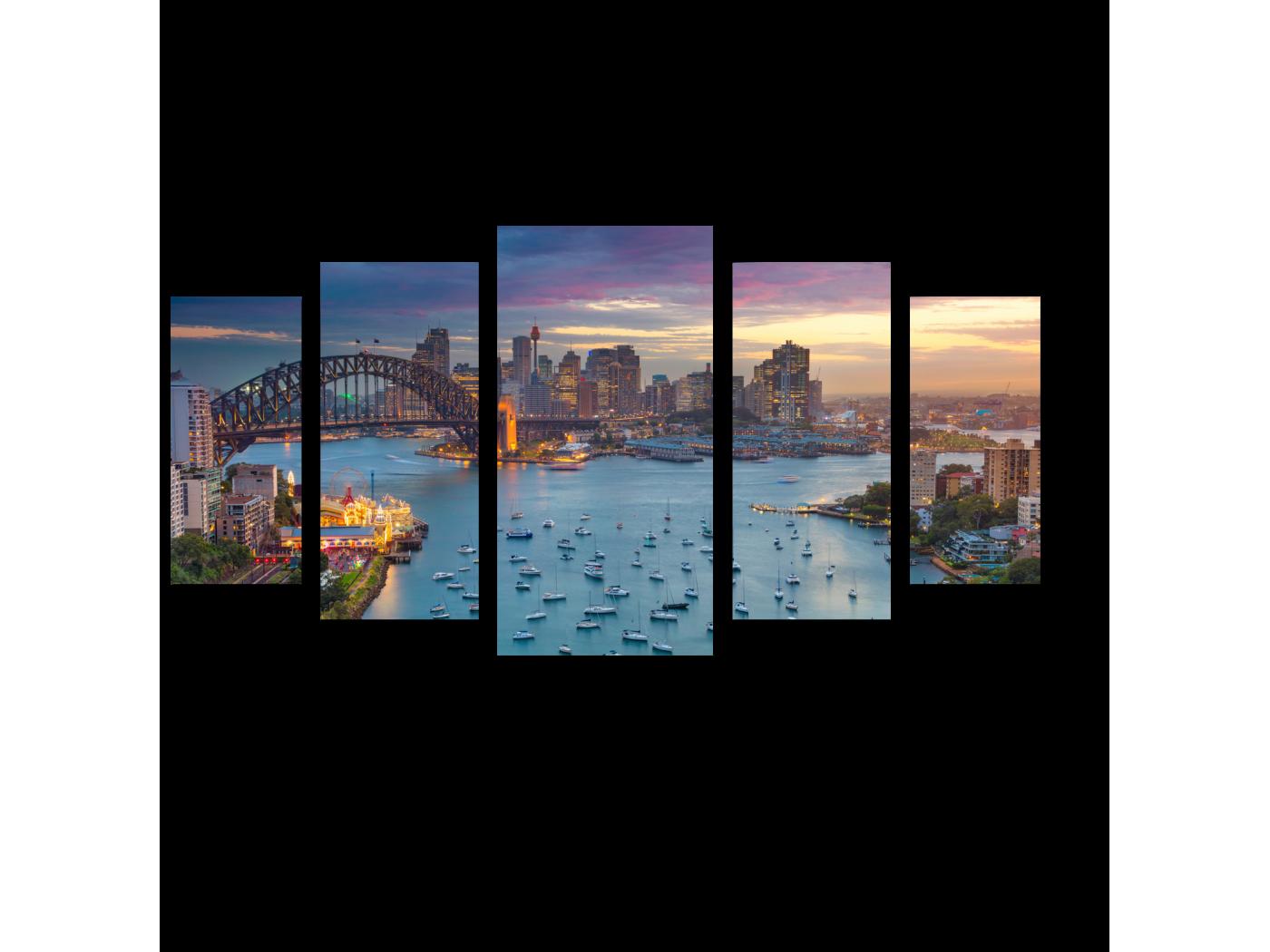 Модульная картина Сидней с высоты птичьего полета (100x55) фото