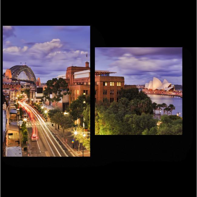Модульная картина Пролетая над Сиднеем