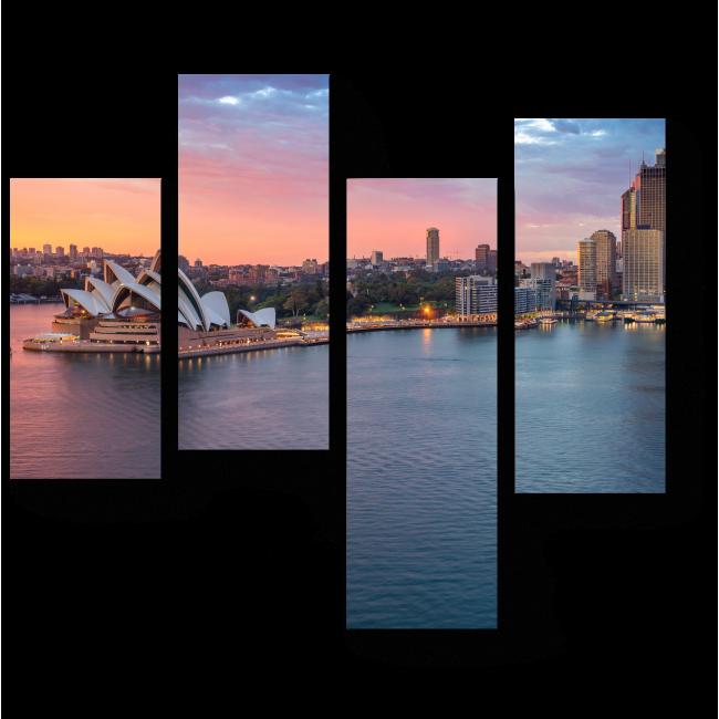 Модульная картина Прекрасный Сидней на закате