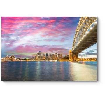 Модульная картина Летний закат над Сиднеем
